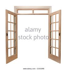 open french doors. isolated french doors open