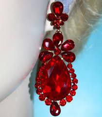 red chandelier earrings uk