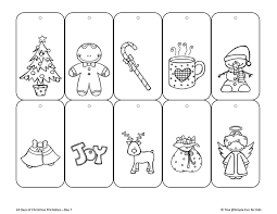 Full size color photos, templates with instructions for angel, santa. Christmas Countdown Day 7 Color Your Own Printable Christmas Gift Tags Simple Fun For Kids