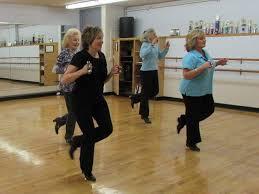 Adult tap dancing class