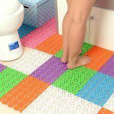 non slip bathroom flooring. 4pcs/set Creative Mosaic Bathroom Floor Mats Non-slip Massage Bath Shower Toilet Non Slip Flooring C