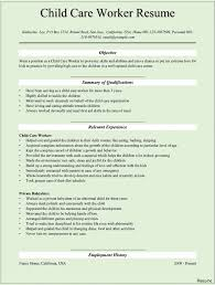 Child Care Resume Sample Day Teacher Resumes Childcare Worker