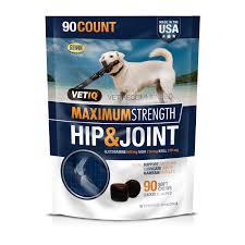 VetIQ <b>Maximum</b> Strength <b>Hip</b> & <b>Joint</b> Supplement for Dogs, 90 Soft ...