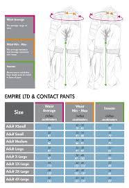 Gi Sportz Pants Size Chart 76 Punctual Empire Pants Sizing Chart