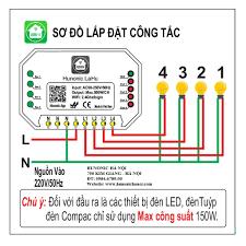 CHÍNH HÃNG] Công tắc thông minh việt nam 4 nút điều khiển từ xa chính hãng  380,000đ