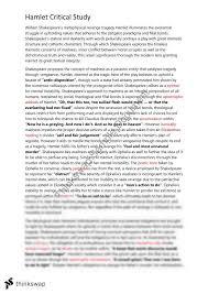 hamlet critical essay critical analysis of shakespeares hamlet essay examples bartleby