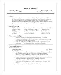 sample resume for production operator production supervisor resume sample  resume for manufacturing operator