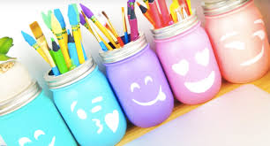 diy emoji mason jars diy room decor ideas