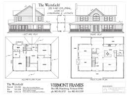saltbox house plans. Waitsfield Colonial Saltbox House Plans