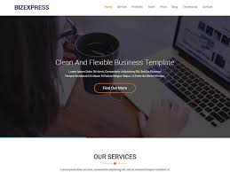 business services template bizexpress free one page bootstrap html5 template for business agency