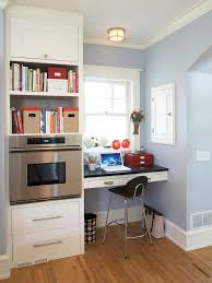Home office nook Unique Small Kitchen Niche Better Homes And Gardens Smallspace Home Offices Storage Decor