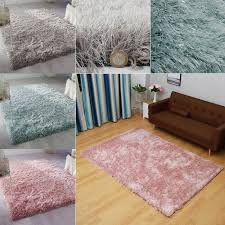 details about sparkle plain gy pile room rug bedroom soft area rugs thick natural carpet