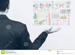 Download Palm Chart Asian Business Man Open Palm With Marketing Chart