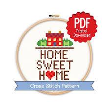 house cross stitch love wall art