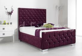 Bed Frame Styles stylish fabric upholstered bed frame chenille leather 4ft6 double 4854 by xevi.us
