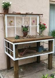 Pflanztisch Aus Alten Fenstern Und Holz Tisch Gebaut Fenster Avec