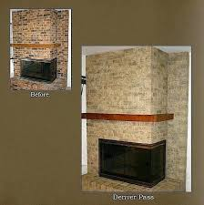 astounding resurface a brick fireplace brick fireplace makeover amazing transformation love