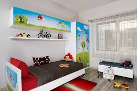 View In Gallery Angry Birds Themed Boysu0027 Bedroom Idea