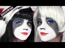 the werecat sisters monster high doll costume makeup tutorial for cosplay or cosplay costume make up monster high dolls and