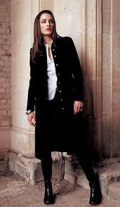 velvet black military frock coat 2006 fashion history