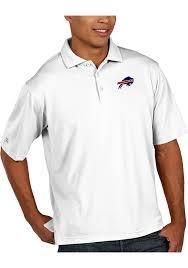 antigua buffalo bills white pique short sleeve polo shirt