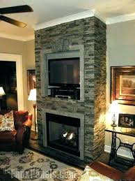 faux rock fireplace painted e fireplace makeover faux rock mantel faux stone fireplace images