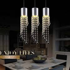 contemporary crystal pendant lighting. 5w led lamp modern crystal pendant light kitchen dining room shop silver metal 3 heads home rope lighting fixtures 220v contemporary b