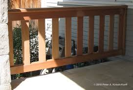 craftsman second story wood deck porch railing west hollywood