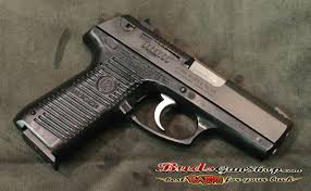 this ruger is in great condition it is the p95 9mm pistol it is an older without the rail and features a matte blue slide black polymer frame