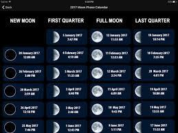 Free Moon Phase Calendar