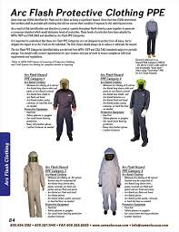 2018 Arc Flash Ppe Requirements Chart Arc Flash Ppe Categories And Overview Cementex