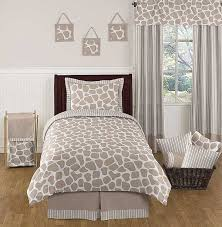 giraffe comforter set 3 piece full queen size by sweet jojo designs