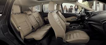 the interior seating arrangement on the ford escape