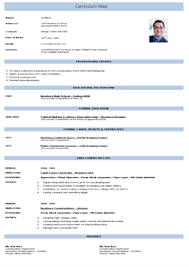 example australian resume cv or resume australia example template