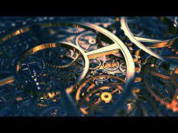 Golden gears in blue light - lovely ...