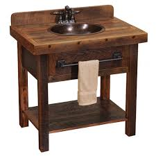 Barnwood Bar barnwood open vanity with towel bar 4717 by guidejewelry.us