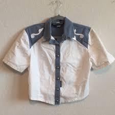 Vintage Tops | Western Attitude Lilia Smith Cropped Western Shirt | Poshmark