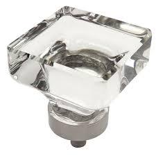 Satin Chrome Cabinet Knobs Cosmas 6377sn C Satin Nickel Clear Glass Square Cabinet Knob