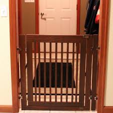 kitchen extra wide dog gates with door beautiful phantasy free standing gate size walk over kitchen appealing wooden