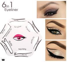 revitale eyeliner stencil 6in1 quick makeup guide smokey cat eye liner 689241974570 ebay