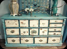 antique distressed furniture. The Turquoise Iris: Vintage Distressed Dresser In Blue \u0026 Creme Antique Furniture 7