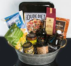 night in the man cave gift basket