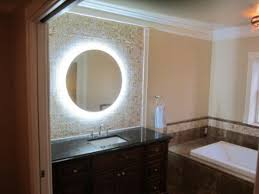 Bathrooms Design Lighted Bathroom Mirror Wall Vanity With Lights
