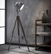 Vloerlamp Romi Houten Driepoot