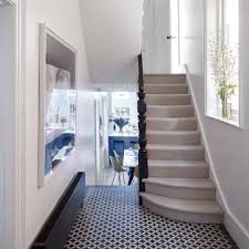 Statement floor tiles create a talking point in an otherwise calm ...