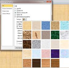Texture Fills For Slide Backgrounds In Powerpoint 2010 For Windows