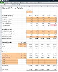 Internet Cafe Business Plan Revenue Projection Plan