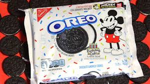 New Birthday Cake Flavored Oreos Celebrate Mickey Mouses 90th