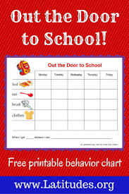 Get Chart Free Reward Chart Out The Door To School School Behavior