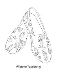 The benefits of coloring pages: Free Coloring Pages Shoes Brown Paper Bunny Studio